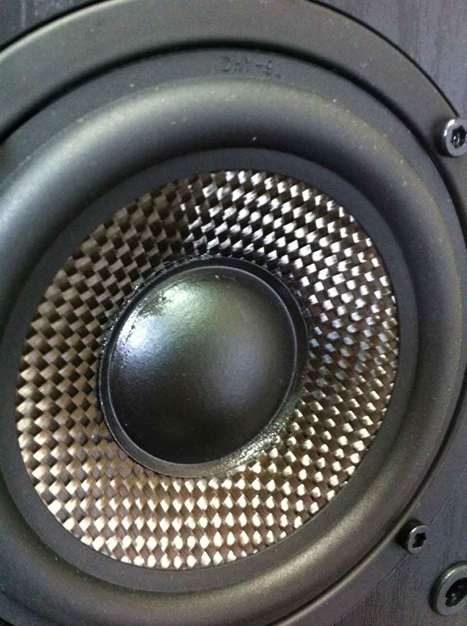 4 Inch Woofer In Yummy Carbon Fiber With Butyl Rubber Surround